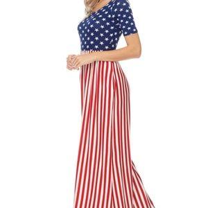 American Flag USA Maxi Dress!